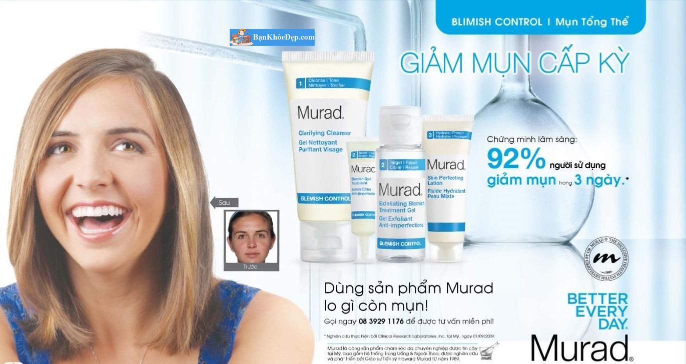 gel trị mụn murad 4h Rapid Relief Acne Spot Treatment