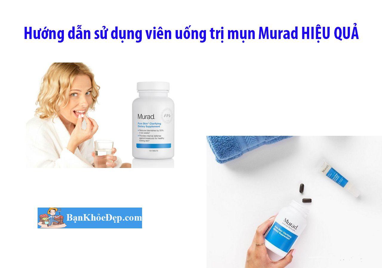 hướng dẫn sử dụng viên uống trị mụn Murad