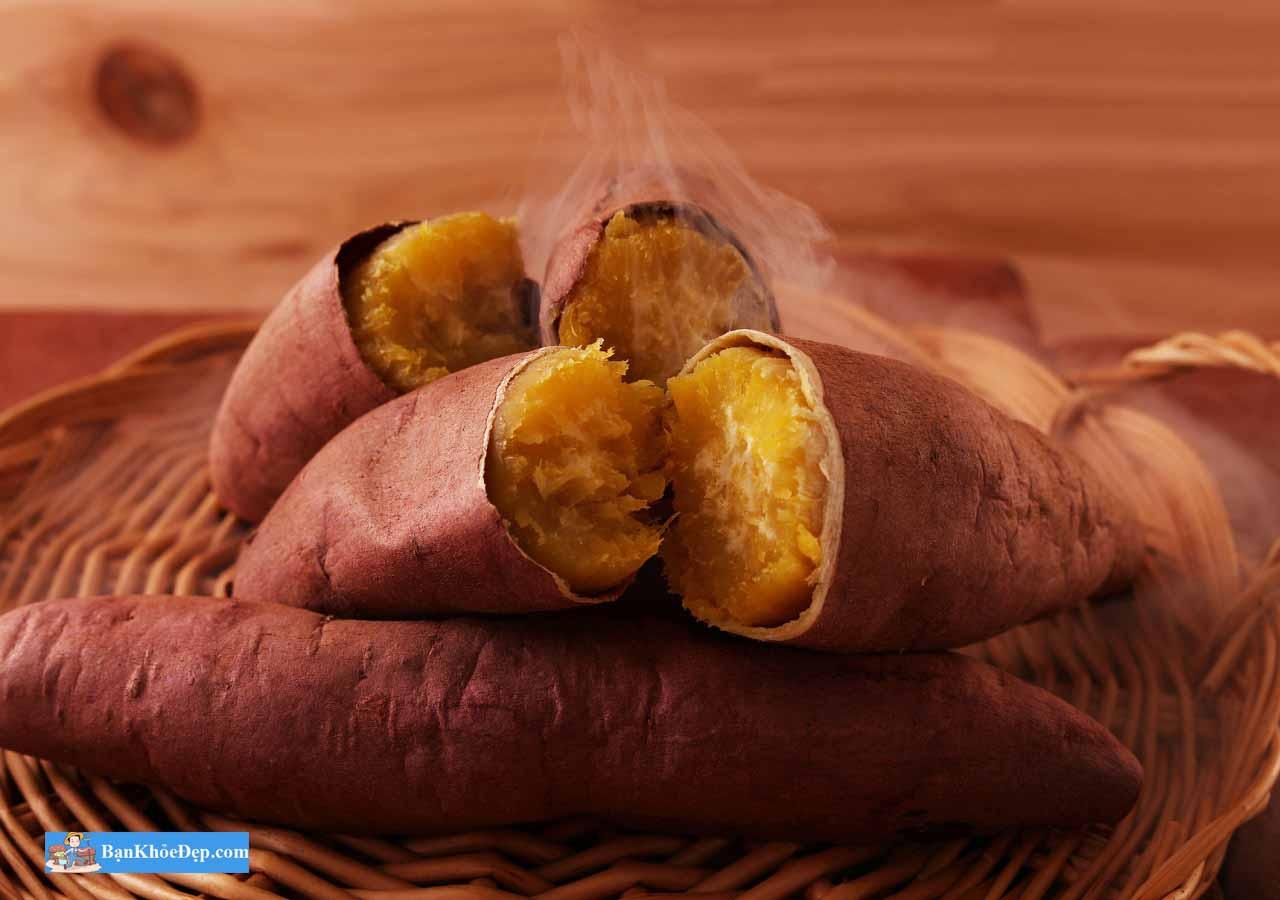 luộc khoai lang bằng nồi cơm điện
